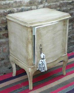 El artillo muebles mesa de luz luis xv patinada home - Muebles antiguos reciclados ...