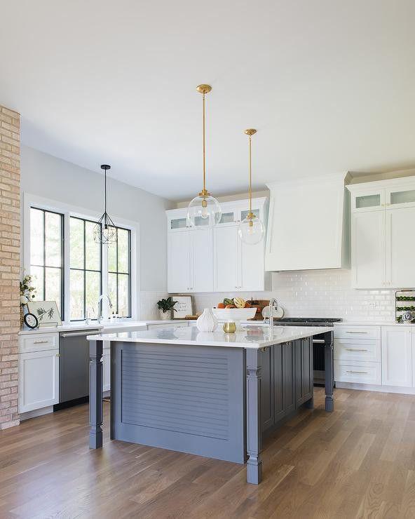 Gray Kitchen Island Legs Design Ideas in 2020 | Modern ...