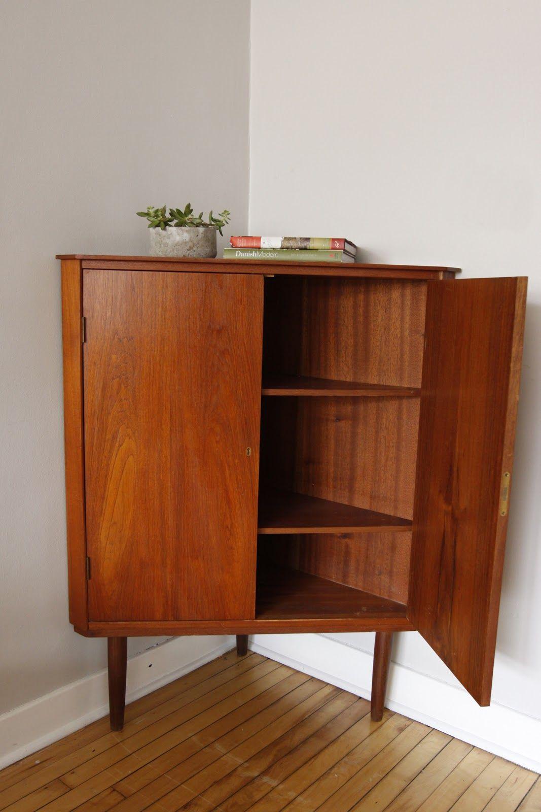 Best Danish Modern Corner Cabinet Home Interior Design 400 x 300