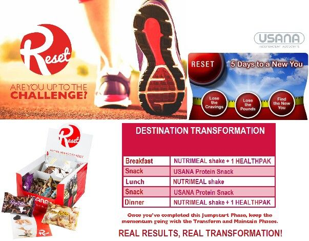 Reset Usanas Reset Weight Management Program Is Simple Convenient And It Works Each Day You Replace Your Usual Meals And Snacks With Delicioususana