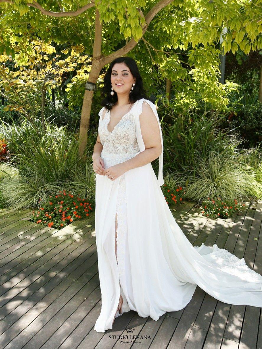 Boho Chic Vintage Romantic Size Wedding Dress By Studio Levana Solar With Long Chiffon Wings Casual Wedding Dress Wedding Dresses Civil Wedding Dresses [ 1182 x 887 Pixel ]