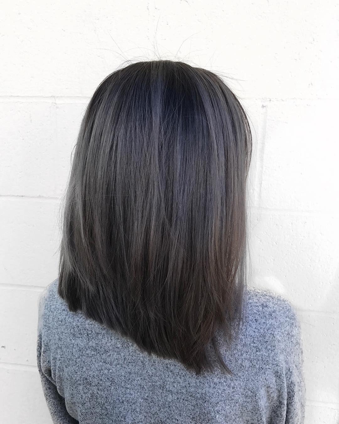 10 Super Pretty Anti Unicorn Charcoal Hairstyles As Dark As Your Soul Hair Styles Charcoal Hair Charcoal Grey Hair