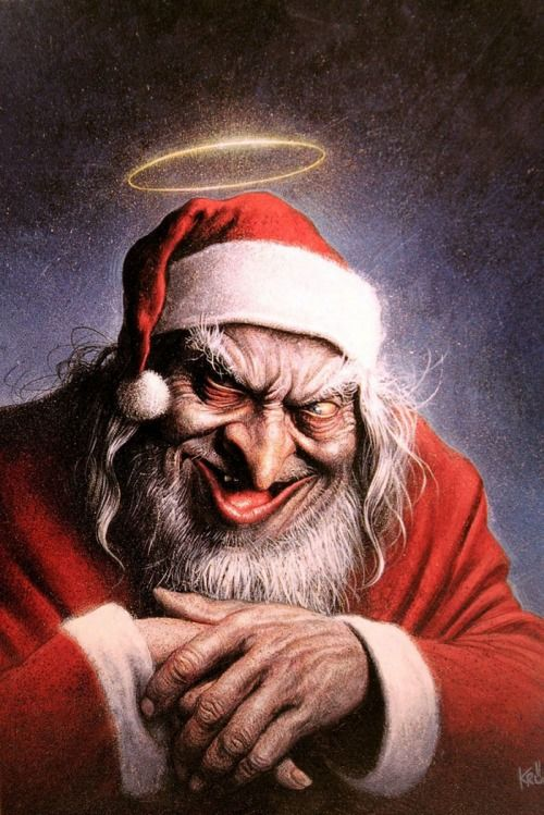 It Is Soon Time For This Person To Start Working Santa Art Horror Art Illustration Art