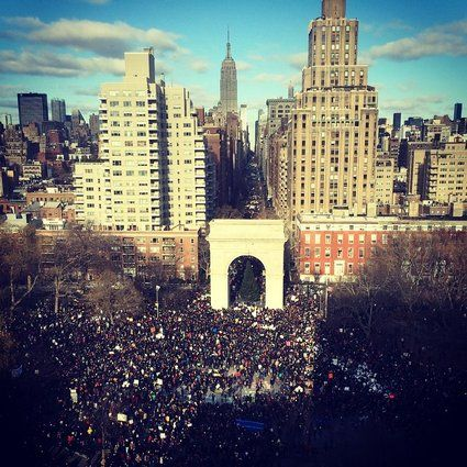 Tens Of Thousands March On Nypd Headquarters To Protest Police