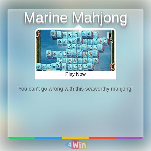 Marine Mahjong Game Free Online Games in 2020 Mahjong
