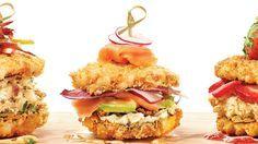Sushi-burger au saumon fumé et au chèvre