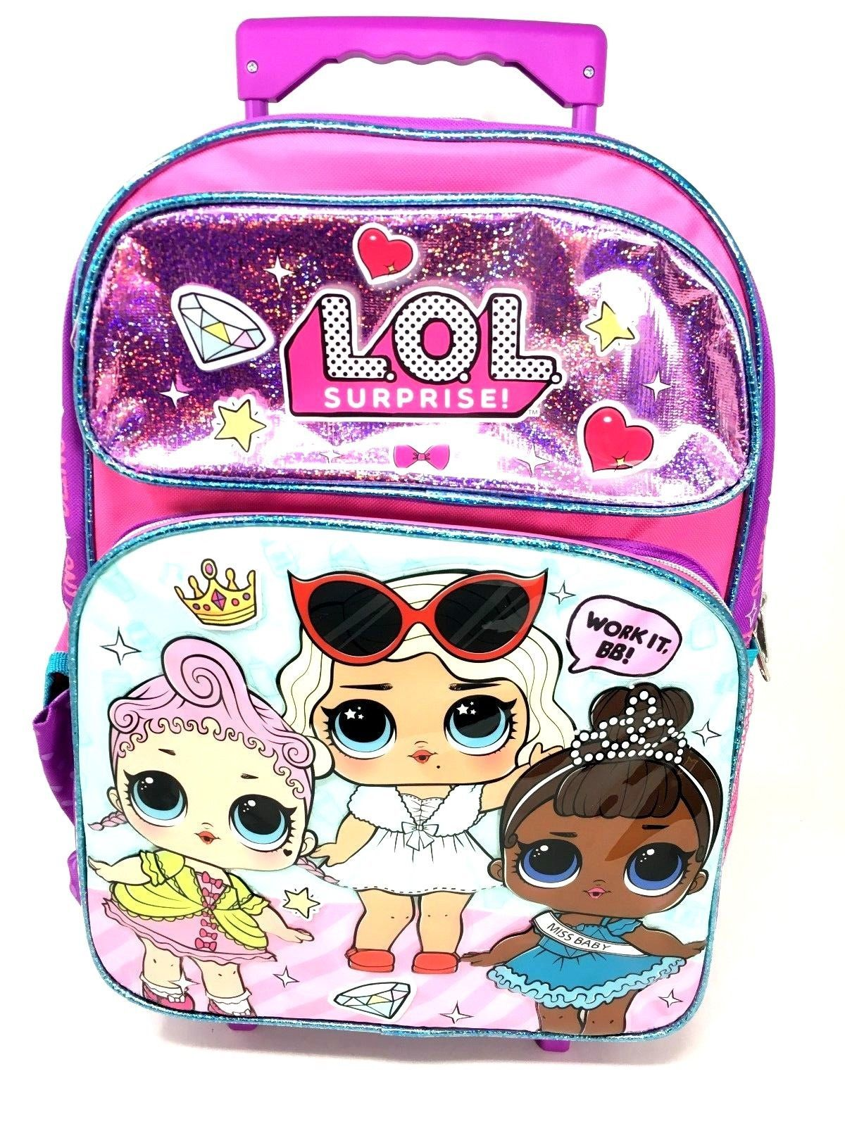 ca21d85eca L.O.L Surprise! Large School Rolling Backpack 16