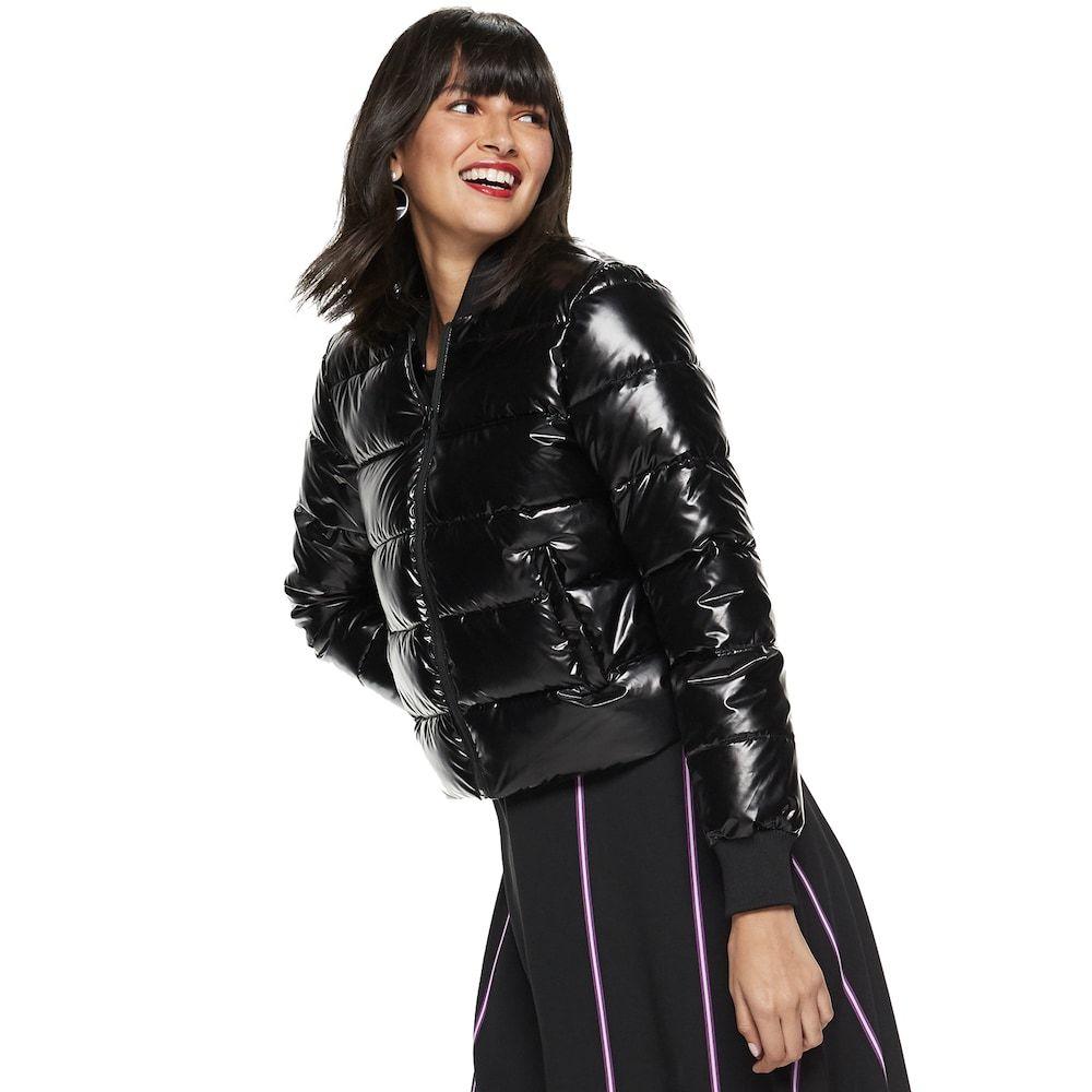 Petite Nine West Cropped Puffer Jacket Puffer Jackets Jackets Women [ 1000 x 1000 Pixel ]