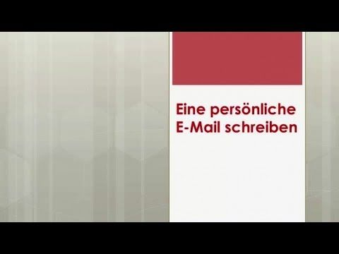 Zertifikat B1 Goethe/ÖSD: E-Mail schreiben - Aufgabe1, Teil 2 ...
