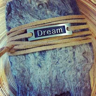 Armband Wikkel Dream Bruin Suede Koord