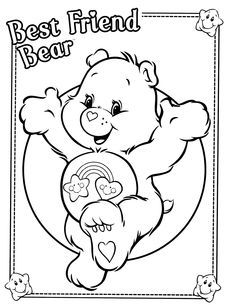 Cat Care Bears Bear Coloring Pages Coloring Books Cartoon Coloring Pages