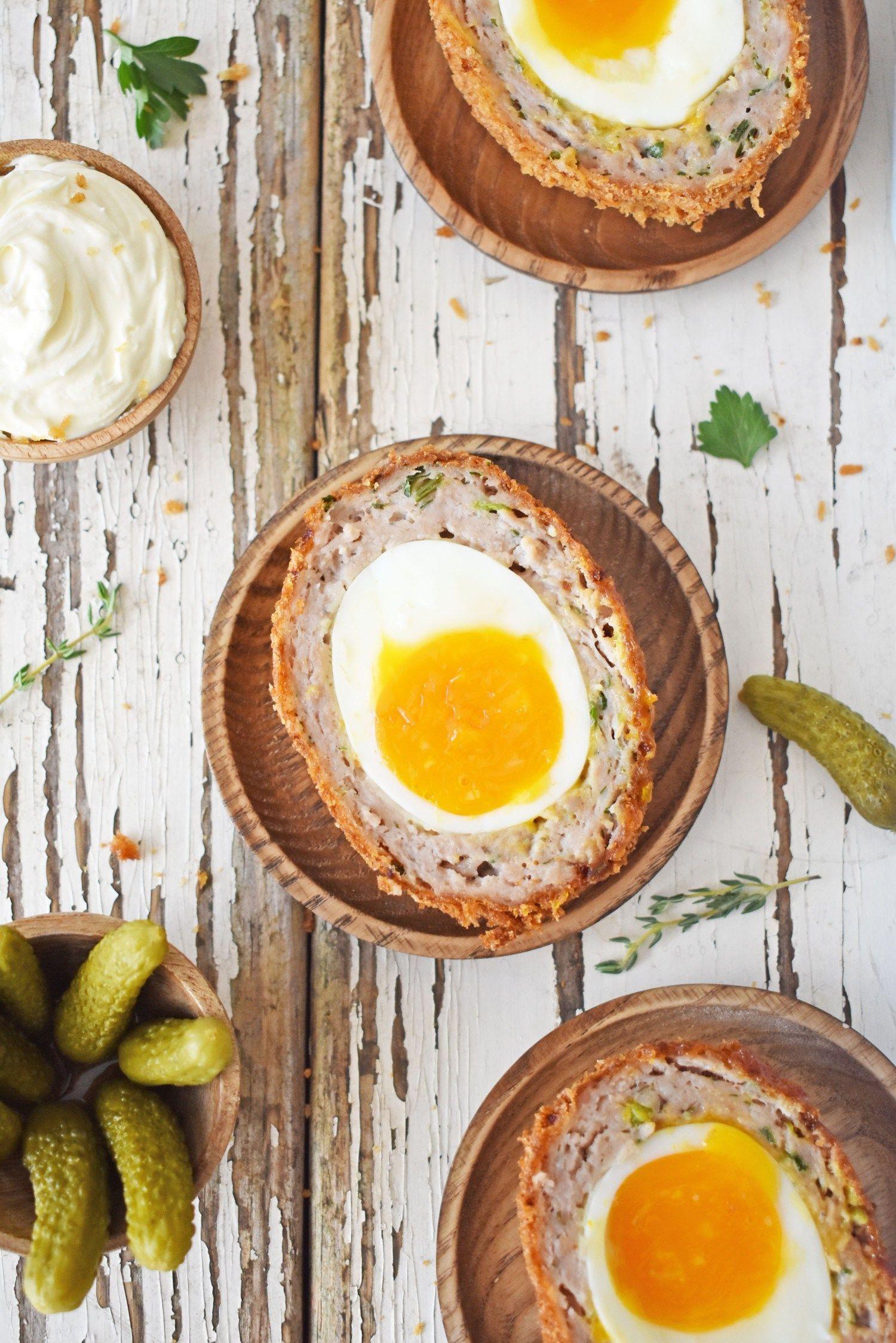 Crispy Scotch Egg with Runny Yolk #scotcheggs Crispy Scotch Eggs with Runny Yolk – Scruff & Steph #scotcheggs