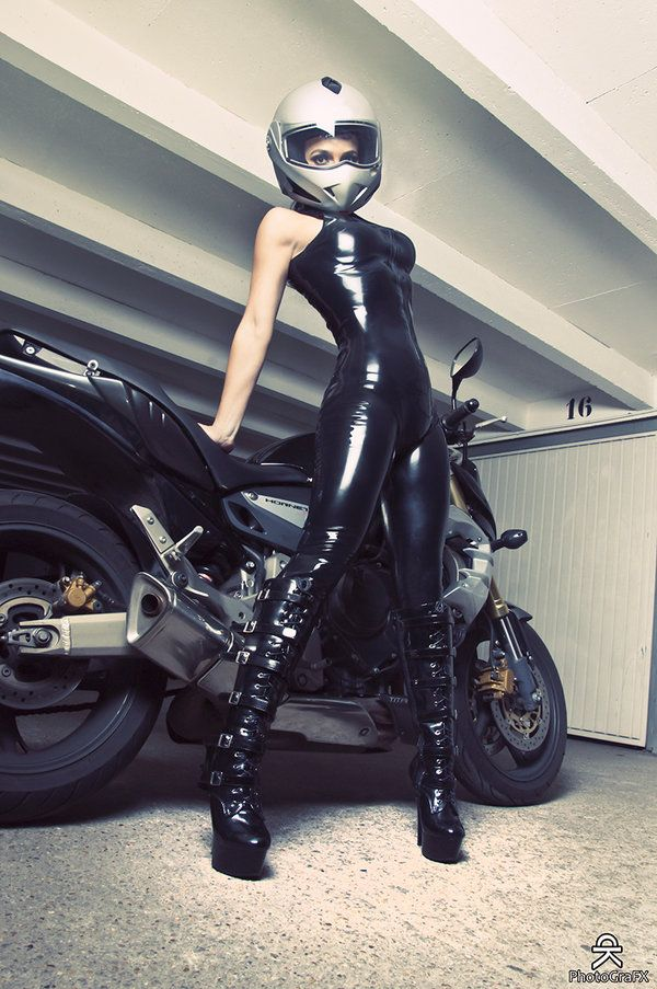 Girls in biker gear fetish