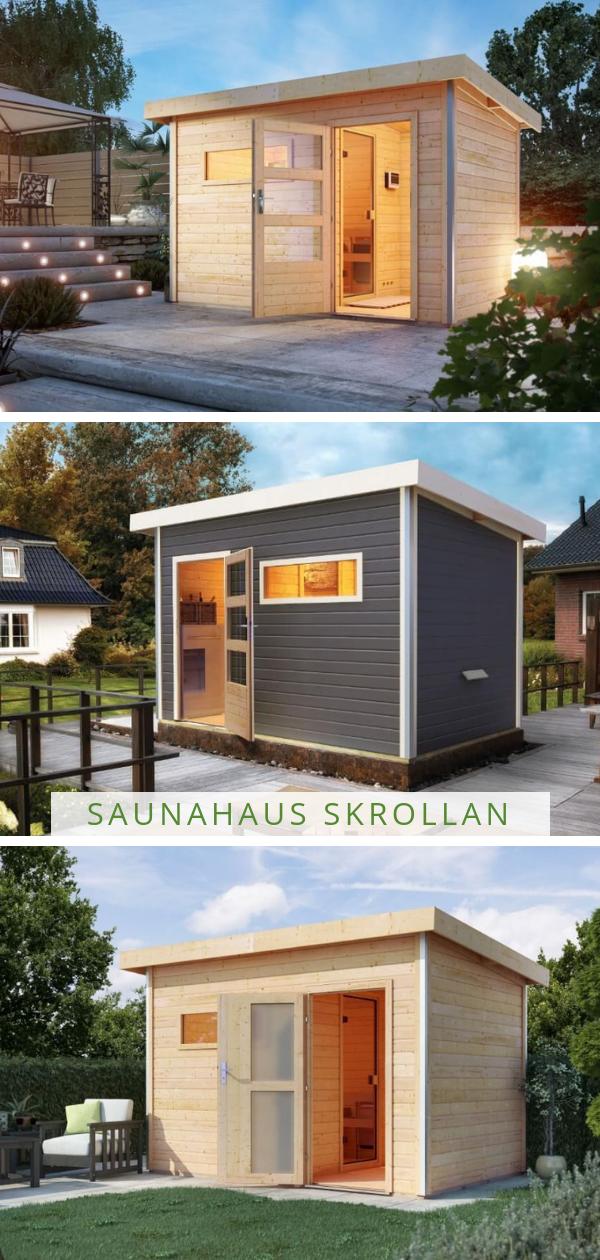 Karibu Saunahaus Skrollan Haus Moderne Turen Saunahaus