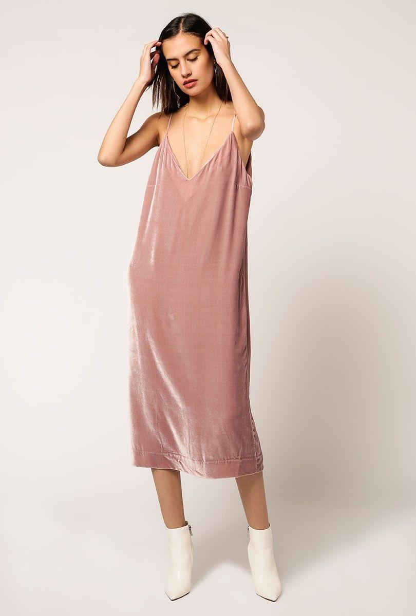 The Georgia Dress from Mara Hoffman is a velvet midi sheath dress ...