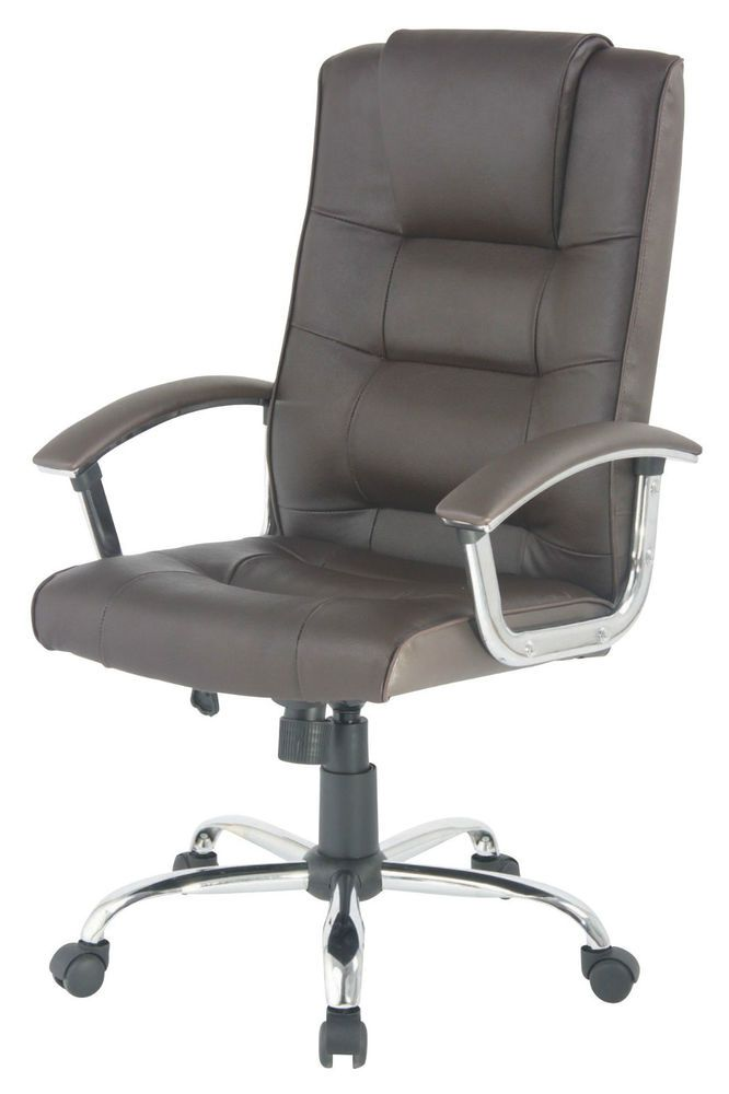 Berlin Leather Faced Swivel Executive Business Office Computer Chair In  Brown In Business, Office U0026 Industrial, Office Equipment U0026 Supplies, Office  ...
