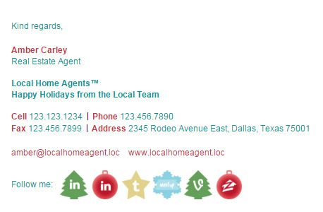 Make Your Own Christmas Email Signature Template Design With Rescue Add Social Media