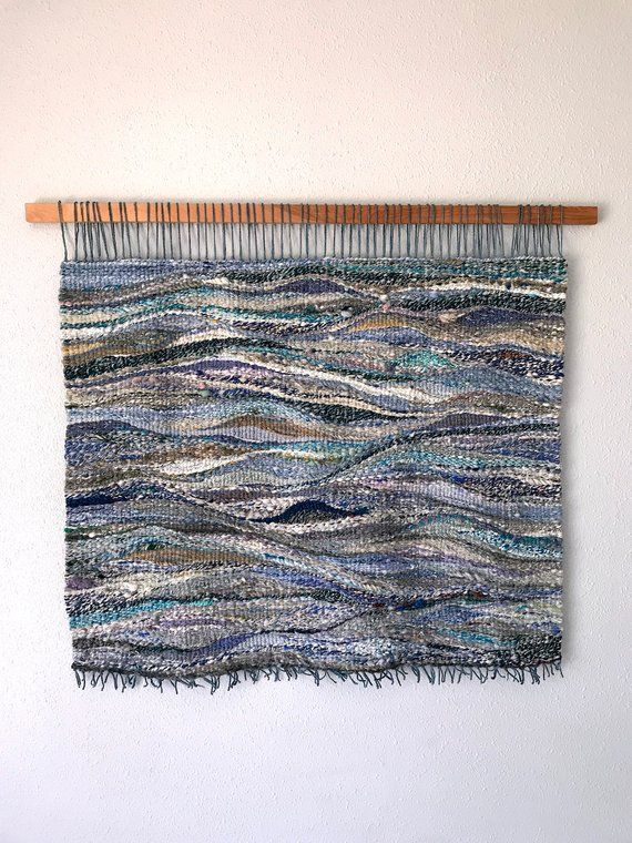 Blue S Extra Large Woven Wall Hanging Weaving