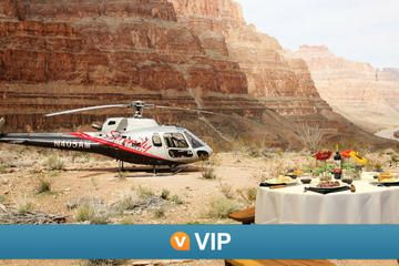 Viator VIP: Grand Canyon Sunset Helicopter Tour with Dinner • Breakfast tour avaliable also