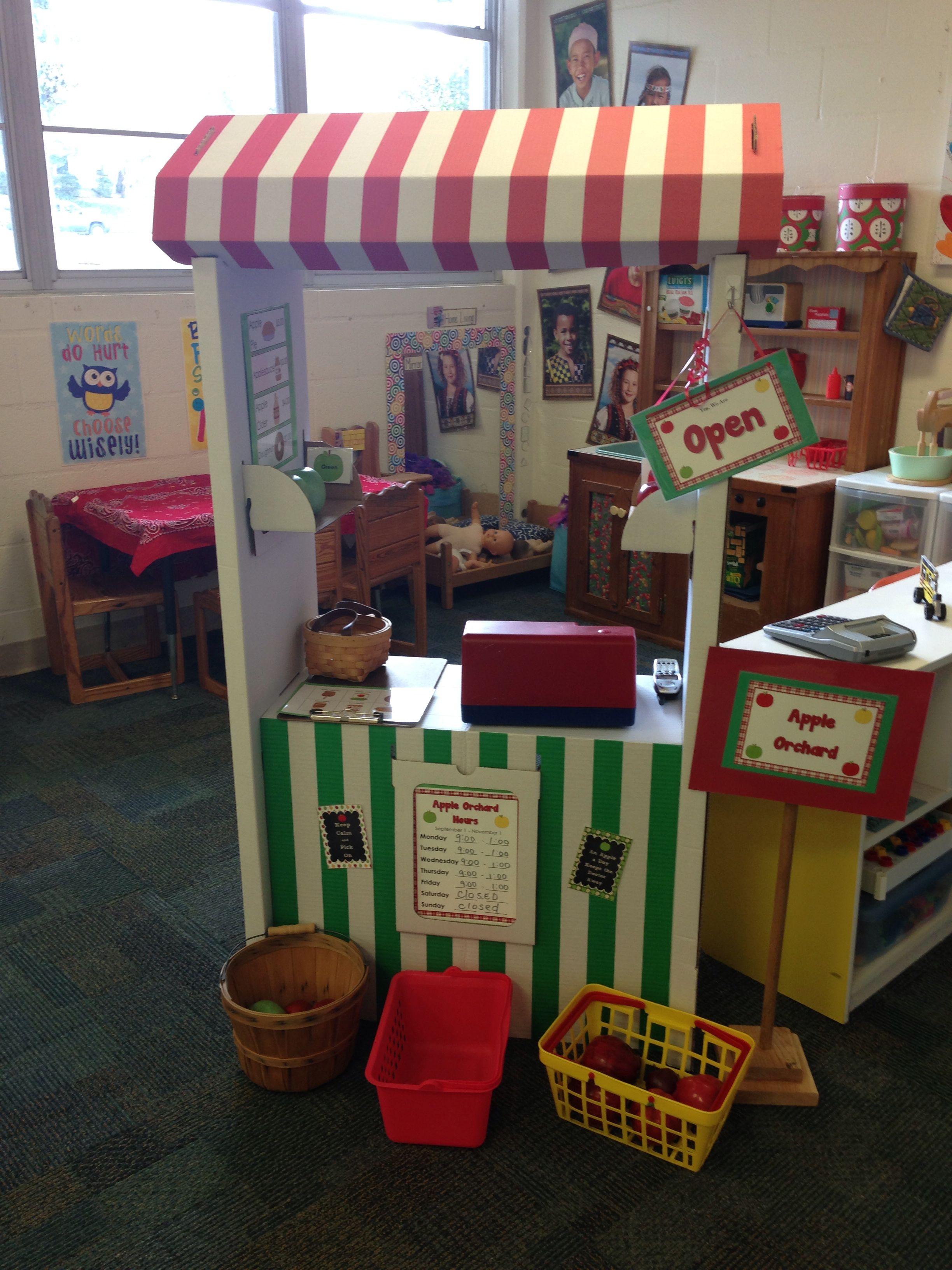 Dramatic Play Apple Market Apple Orchard Preschool