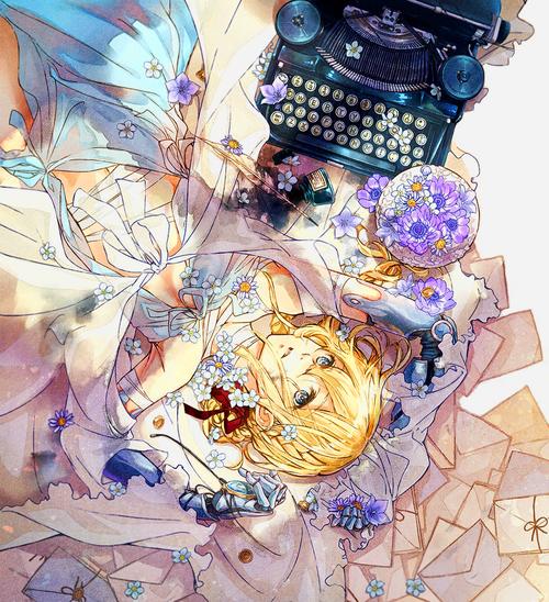imagen de violet evergarden ヴァイオレットエヴァーガーデン イラスト お姫様 イラスト