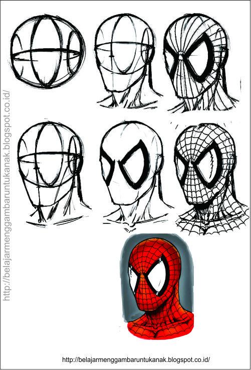 Cara Membuat kartun spider man untuk anak Spiderman