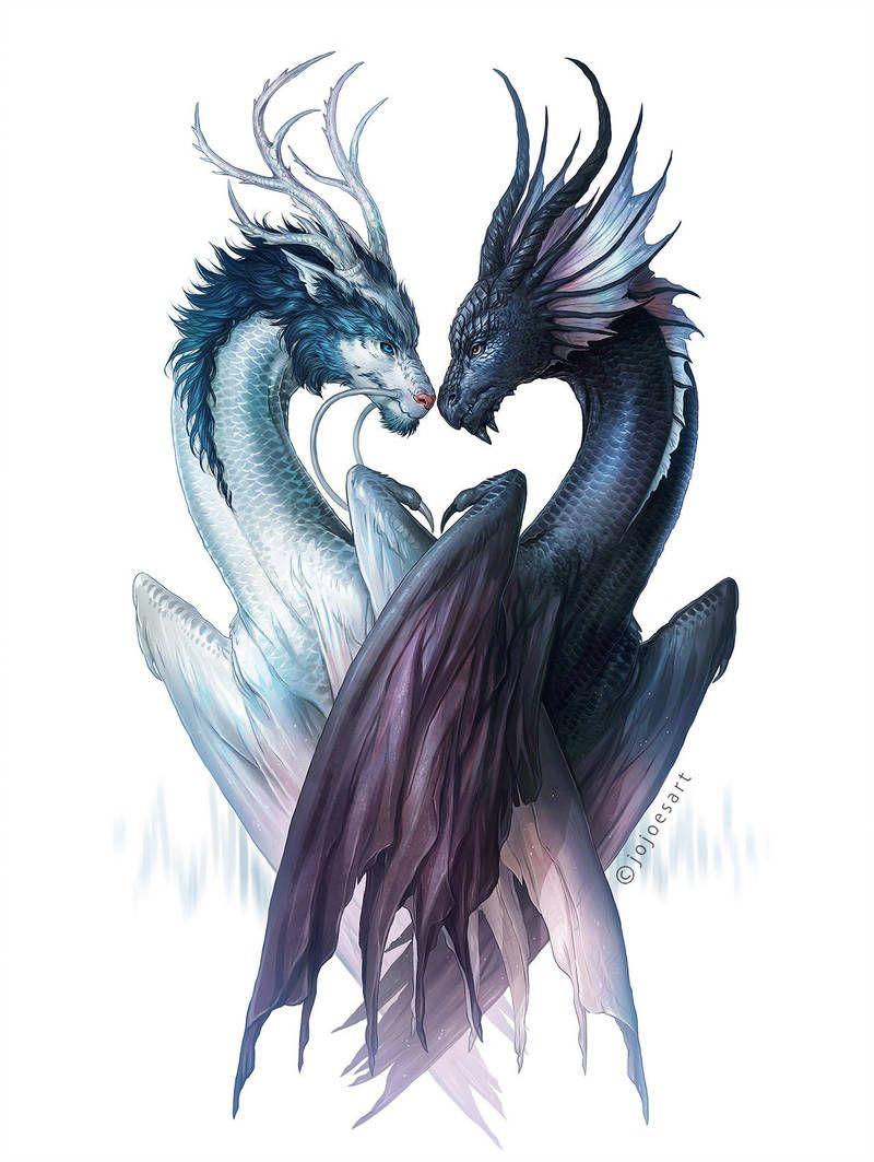 Beautiful dragon mates Dragons of Yin and Yang by JoJoesArt ...