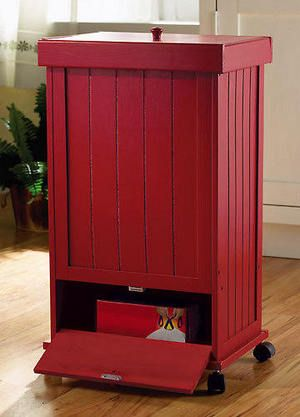 red kitchen trash can hardwood cabinets want i need a heavy wooden trashcan so my little man stops knocking it over would be awesome