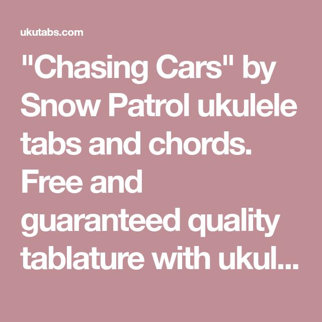 Chasing Cars\