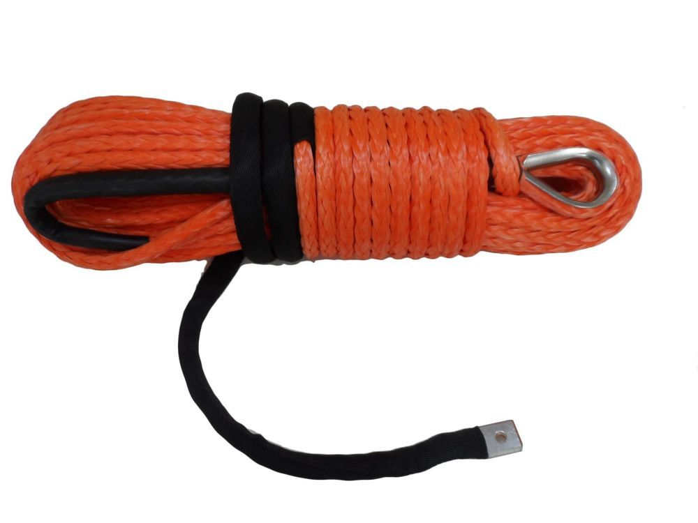 1 2inch 100ft Atv Utv Synthetic Winch Rope Cable With Thimble Sheath Towing Rope Synthetic Winch Rope Synthetic Rope Winch Rope