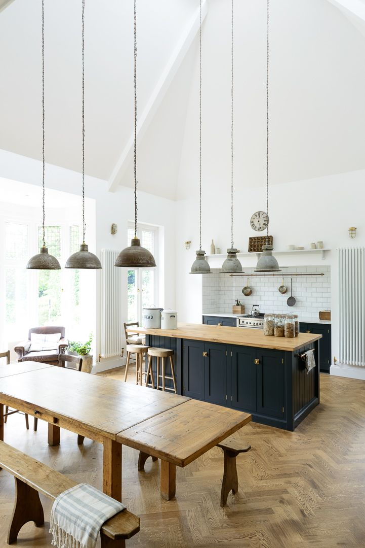 this lovely big kitchen in kent mixes vintage pendant lights original parquet flooring and beautiful. beautiful ideas. Home Design Ideas