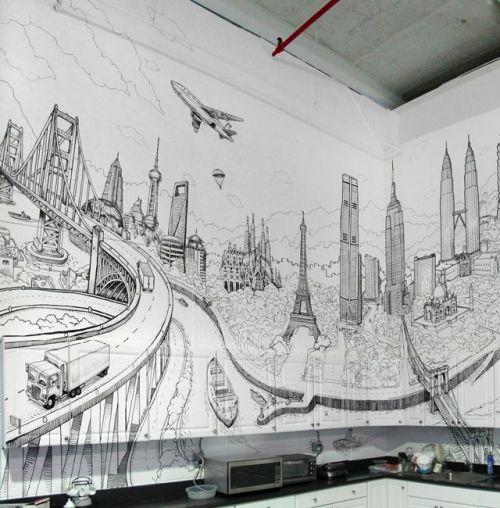 картинки на стену рисовать карандашом рыболовных магазинах