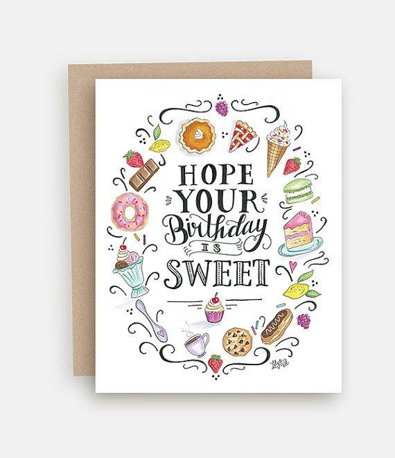 Trata de tarjeta de cumpleaños tarjeta del feliz por LilyandVal