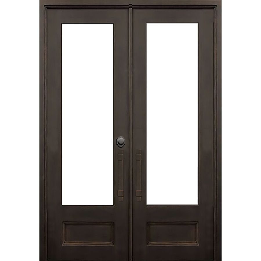 FLORIDA IRON DOORS 2-Panel Insulating Core 3/4 Lite Left
