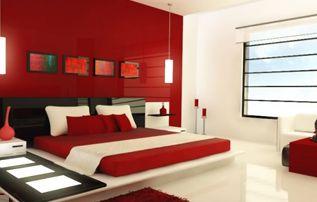 Ideas para pintar paredes rojas decoracion pinterest - Ideas de pintura para dormitorios ...