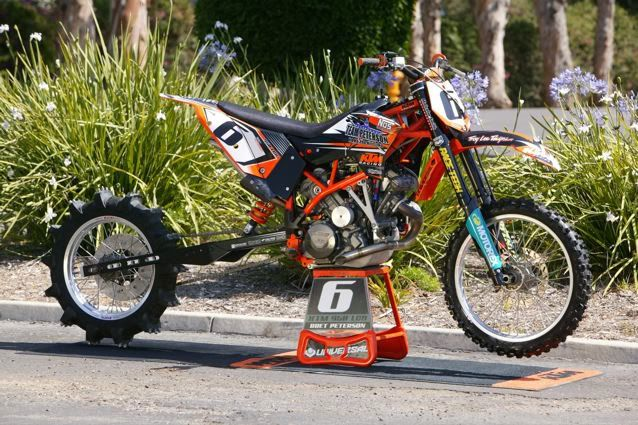 Team Peterson S Ktm 950 Lc8 Fuel Injected On Nitro Methane Using