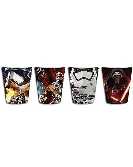 Force Awakens Star Wars Shot Glasses 4 Pack Spencer 39 S