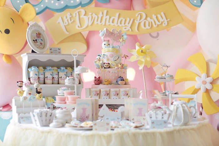 Disney S Tsum Tsum Inspired Birthday Party 1st Masiel
