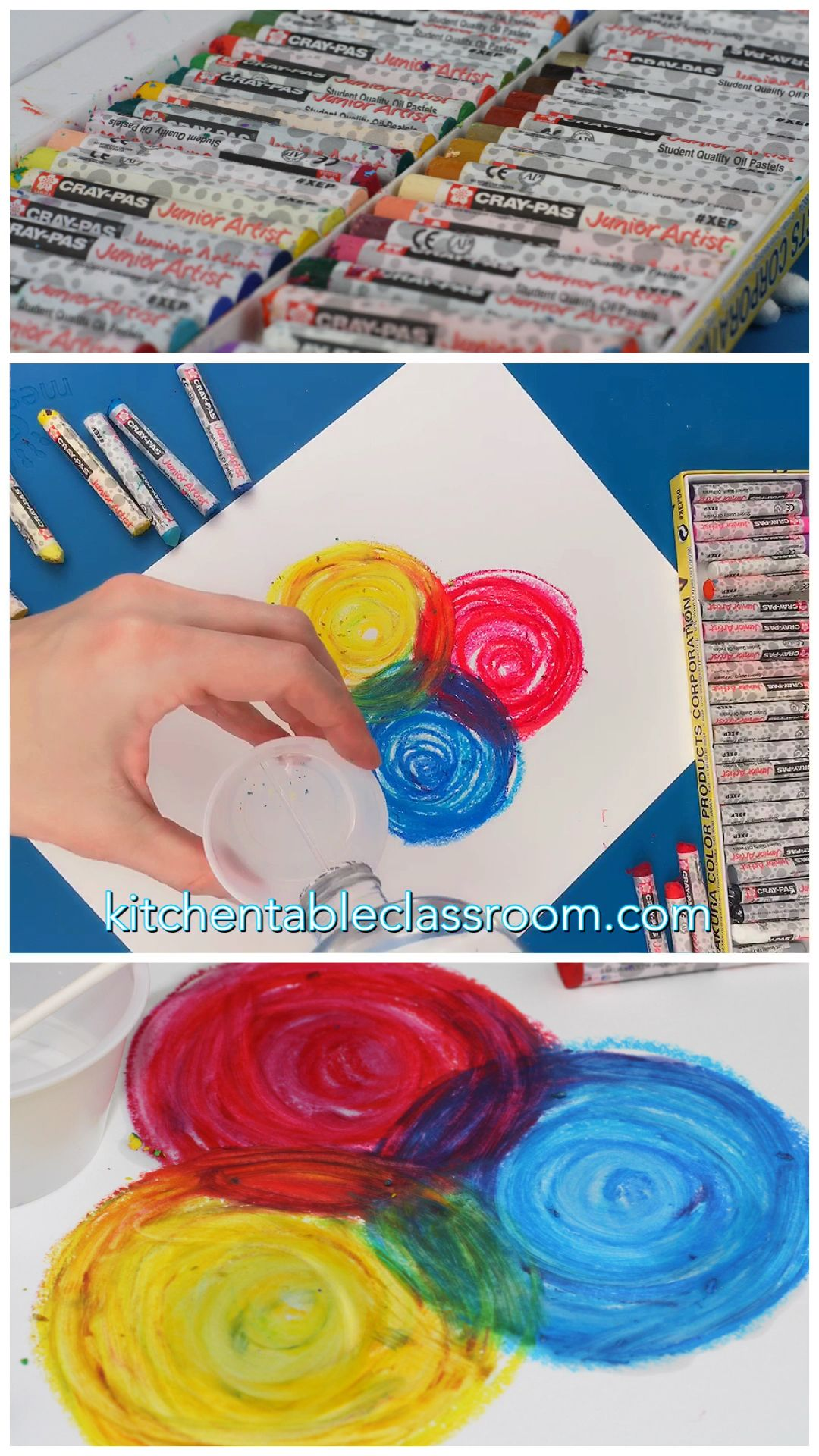 Oil Pastel Painting How To Blend Oil Pastels