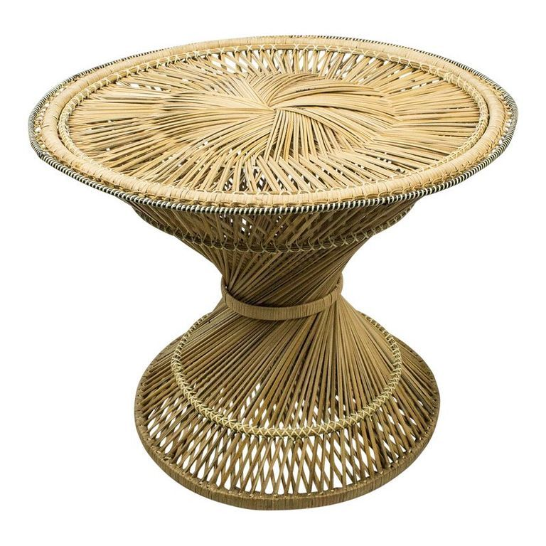 30 antique and vintage wicker rattan side table design and ideas rh pinterest ca