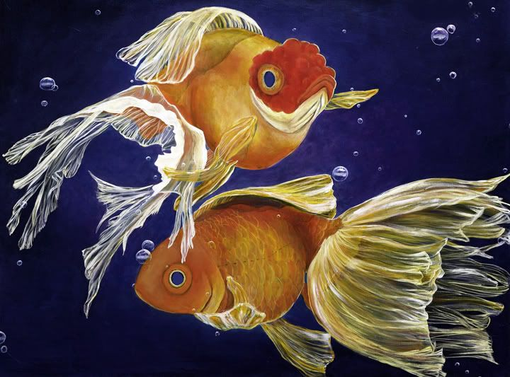 Good Luck Goldfish - Art of Samantha Lockwood | Gold Fish ...