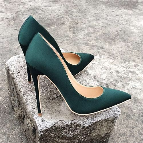 This emerald green high heels is Trending style right now must Buy !