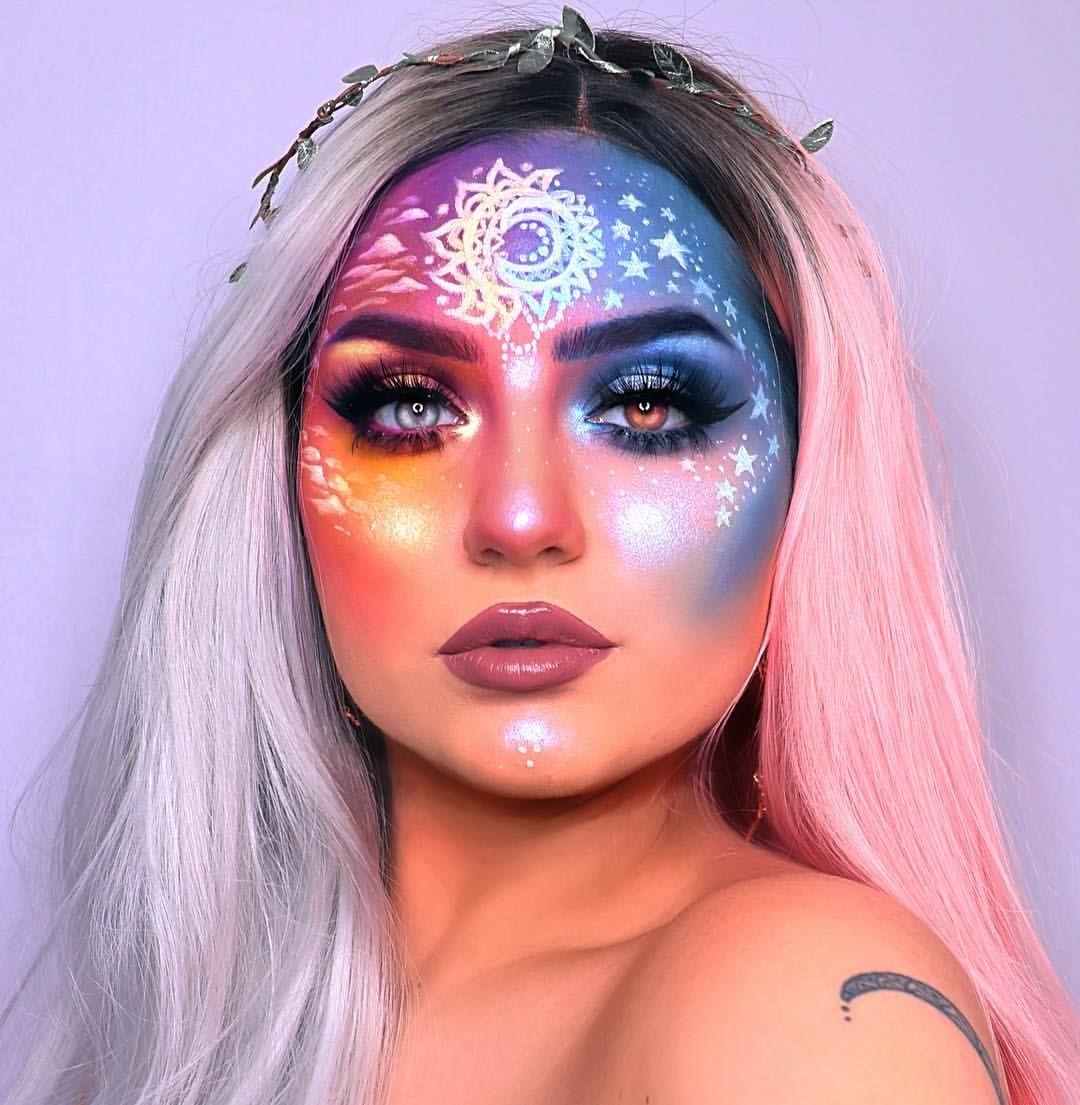 Pinterest dayanabaltazar Galaxy makeup, Halloween