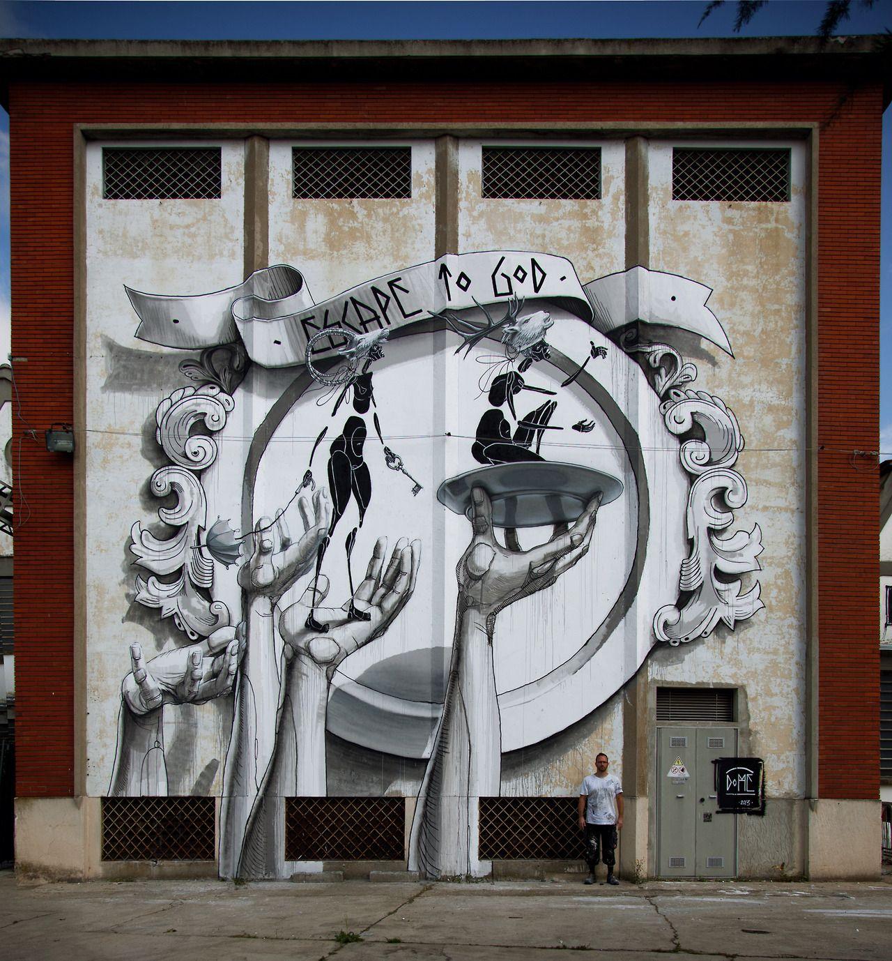 Artist : Dome. Place : Chieri, Italy. Tags : street Art, graffiti, urban culture.