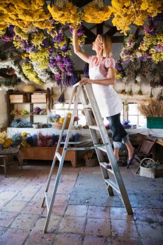 Image result for dried flowers hanging from ceiling