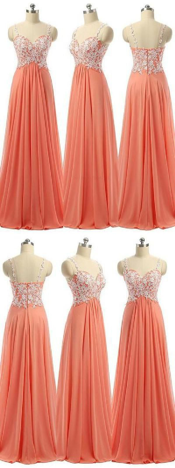 Outlet Light Prom Dresses Long Prom Dresses With Appliques in