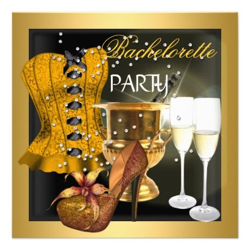 Bachelorette Party Gold Black Corset Shoes Personalized Invitation We have the best promotion for you and if you are interested in the related item or need more information reviews from the x customer who are own of them before please follow the link to see fully reviewsDiscount Deals ...