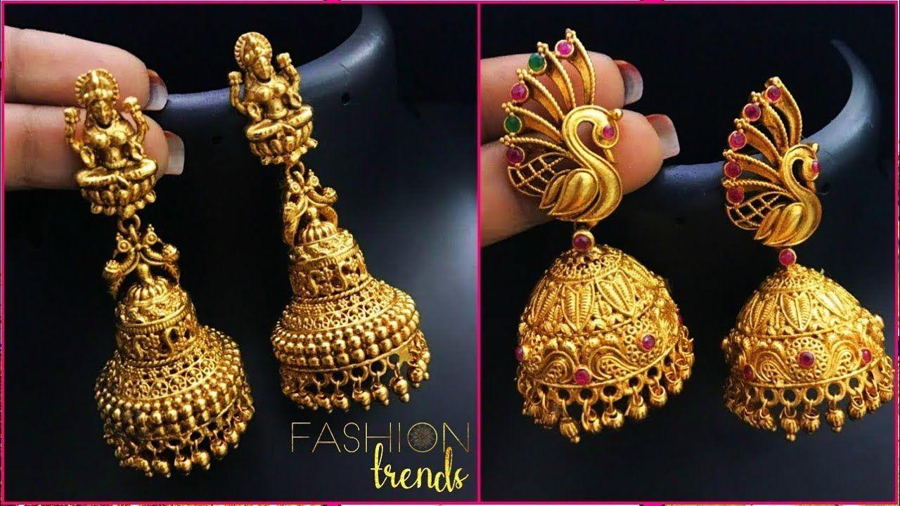 d739f0fba LATEST LIGHT WEIGHT GOLD JHUMKA | jhumki designs | latest jewellery designs  - YouTube