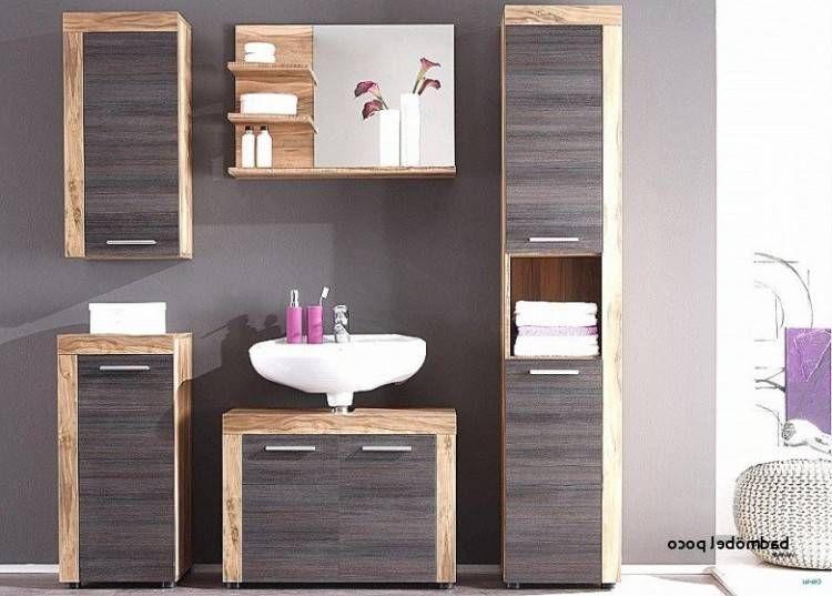 Badezimmermobel Poco Waschbeckenunterschrank Eiche Rustikal Badezimmer