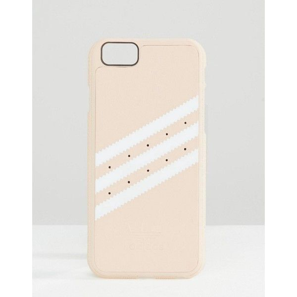 adidas Originals 3 Stripe iPhone 6/6S Case In Pink ($27) ❤ liked